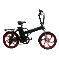 "20"" Alloy Frame Folding Electric Bicycle LOW ENTRY CHASSIS"