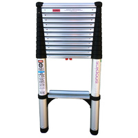 TELESCOPIC WIDE STEP PROFESSIONAL LADDER 3.9M